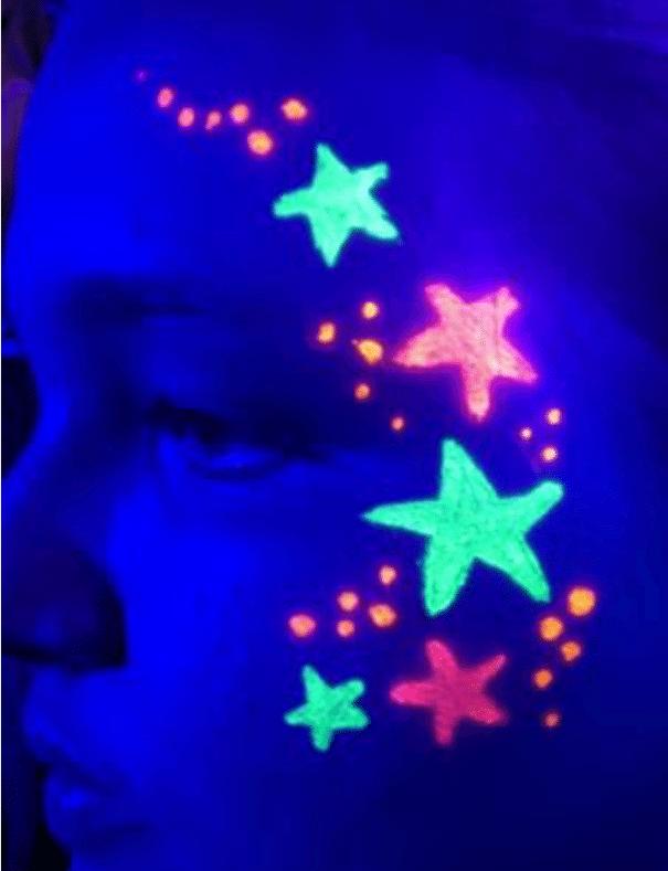 ציור כוכב זוהר באולטרה