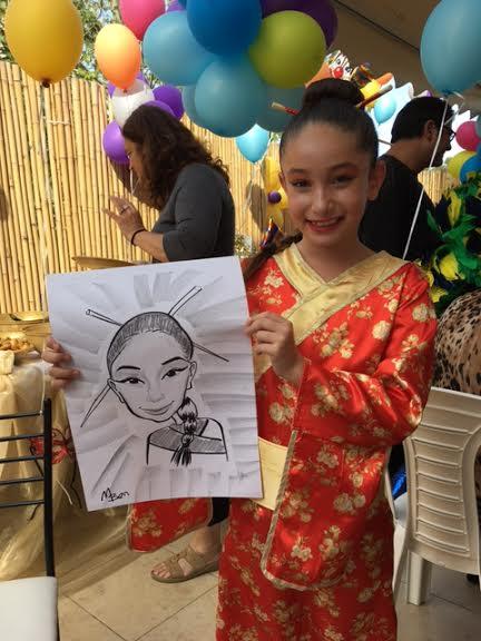 קריקטורה של ילדה מחופשת לסינית