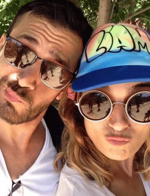 אלירז שדה ואילנית לוי עם כובע של ליאם